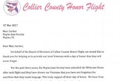 Honor Flight Letter